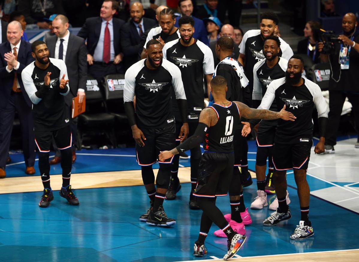0e3c4a026395 All-Star Basketball Game  Team LeBron rallies to beat Team Giannis ...