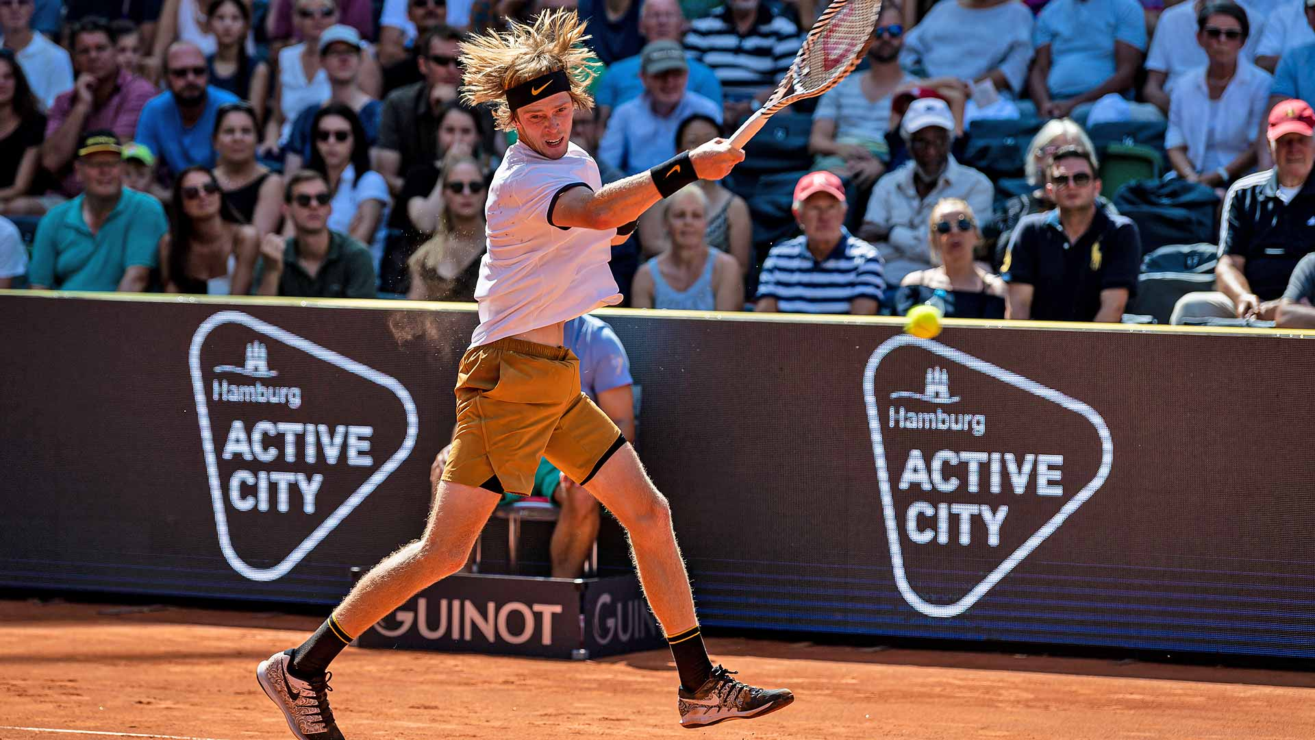 Rublev playing Tennis