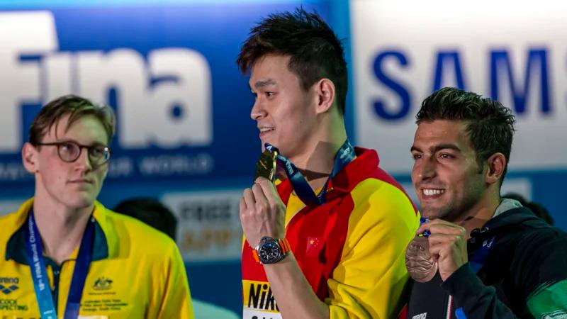 Sun Yang takes Gold Medal