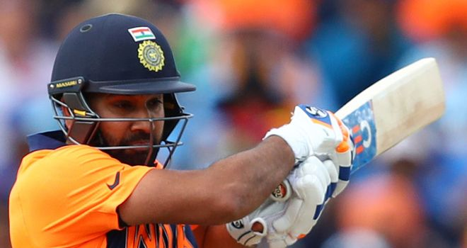 Rohit Sharma Playing in Action