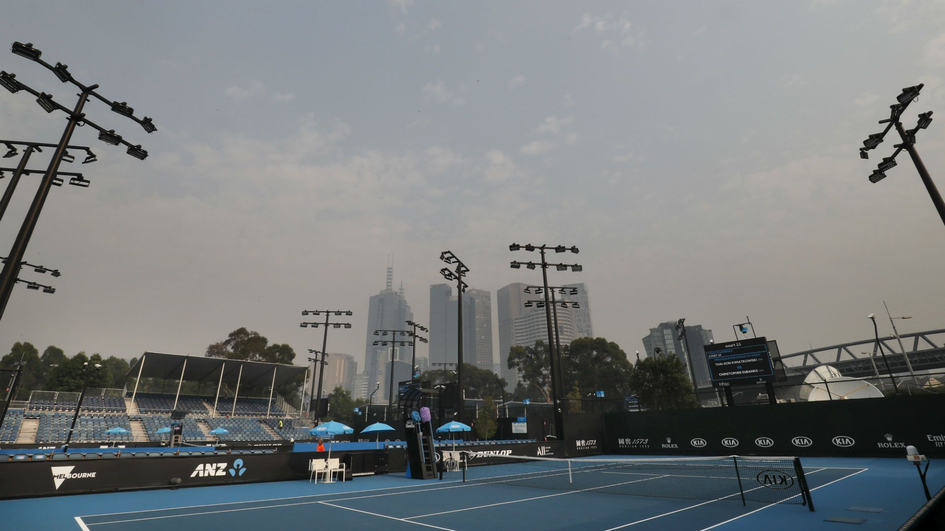 Australian Open Gets Delayed For The Second Day In Melbourne